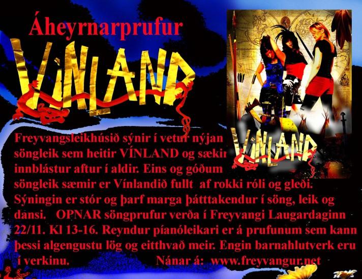 Vinland er verkefni Freyvangsleikhússins i vetur